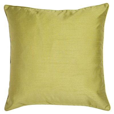 Tesco Faux Silk Cushion, Green