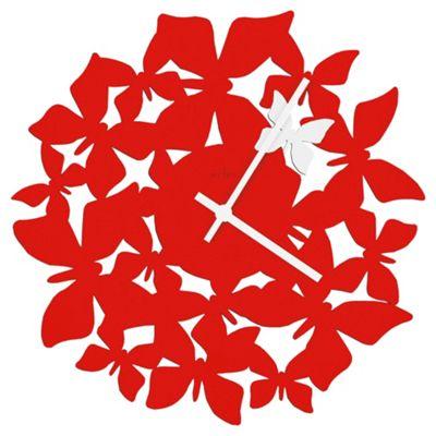 Acctim Butterflies Wall Clock Red