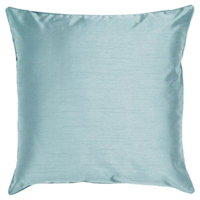 Tesco Set Of 2 Faux Silk Cushions, Duck Egg