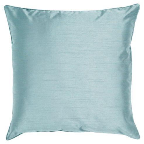Tesco Set Of 2 Faux Silk Cushions, Duck Egg