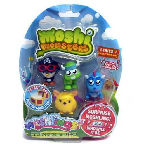Moshi Monsters Five Moshlings Pack - Series One