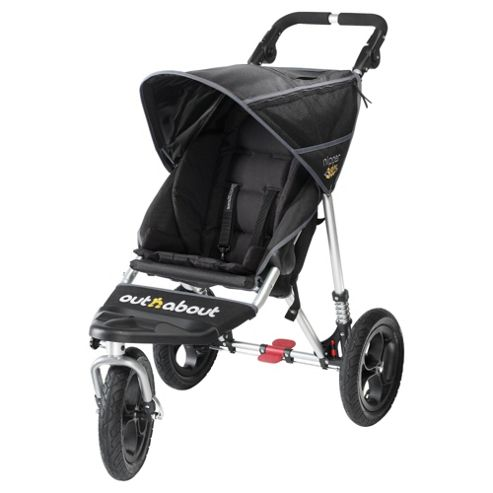Out 'n' About V2 Nipper 360, Single 3 wheeler Pushchair, Black
