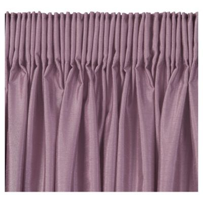 Tesco Faux Silk Lined pencil pleat Curtains W163xL183cm (64x72