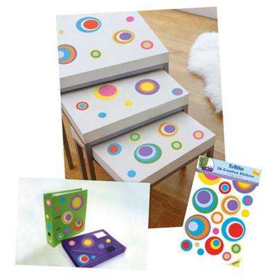 FunToSee Funky Polka Dot Wall Stickers