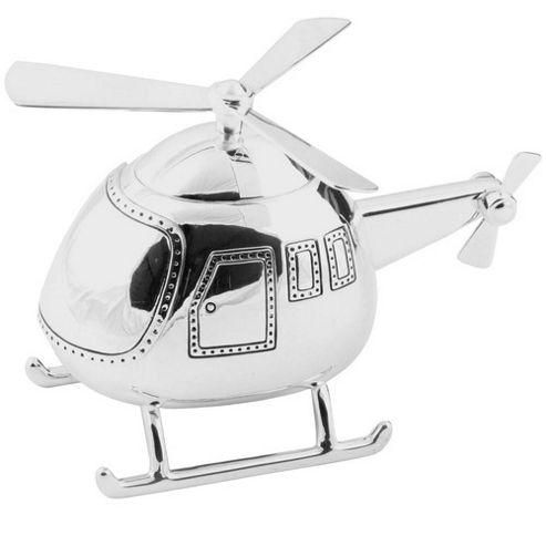 Silver-plated Helicopter Money Box