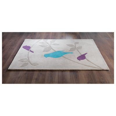 Tesco Rugs Birds Rug 150X240Cm