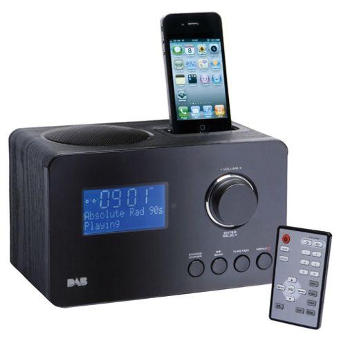 Technika DAB129IDV Black DAB radio with iPod docking