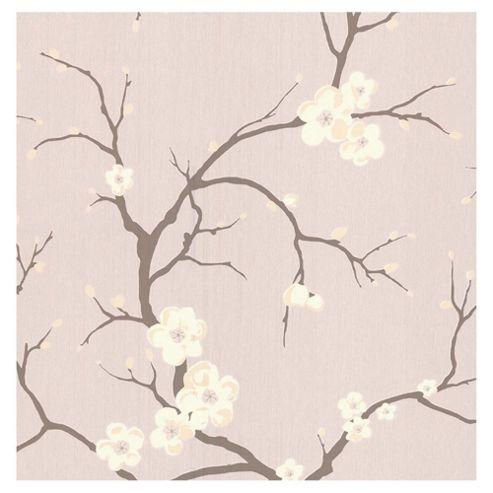 Dulux Blossom Wallpaper, Rose