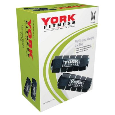 York Fitness Mini Hand Weights 2 x 1kg