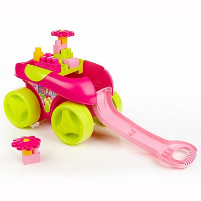Mega Bloks First Builders Pink Play'n Go Wagon
