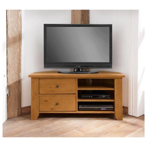 Suffolk Solid Pine Corner TV Unit