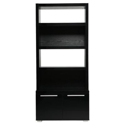 Milan High Gloss Display Cabinet / Black