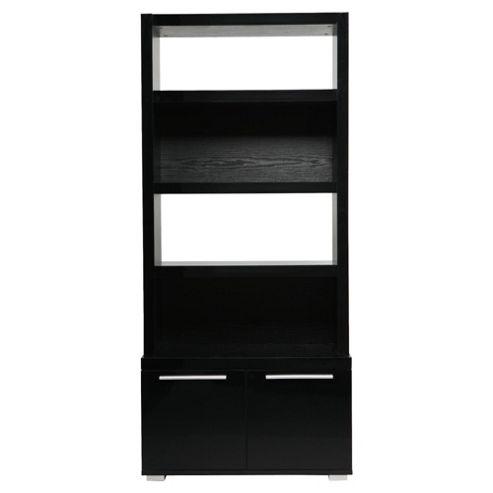 Milan High Gloss Display Cabinet / Black