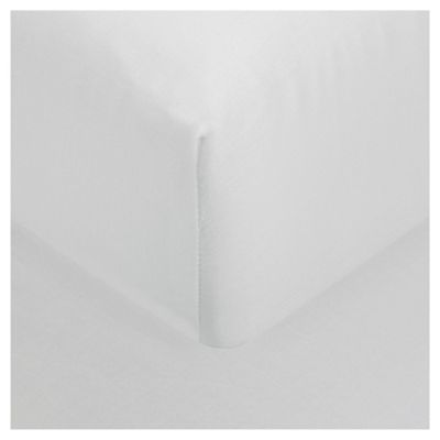 Finest Pima Cotton Deep Fitted Sheet Double- White