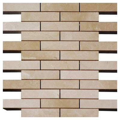 Polished Marble Brick Mosaic (30.5x30.5)