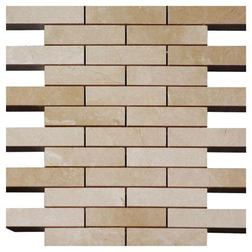 Polished Marble Brick Mosaic (30.5x30.5)