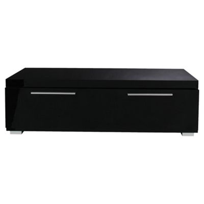 Milan Coffee Table with Chrome Handles, Black High Gloss
