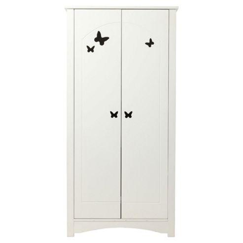 Butterfly Double Wardrobe, White