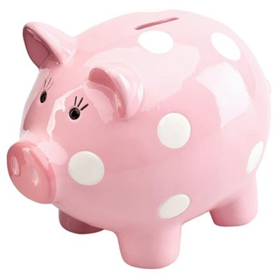 Buy Tesco Kids Piggy Bank - Pink From Our Ornaments ...