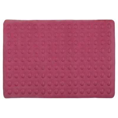 Tesco Bubble Bath Mat, pink