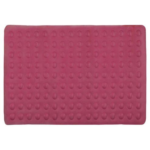 Tesco Bubble Bath Mat, pink