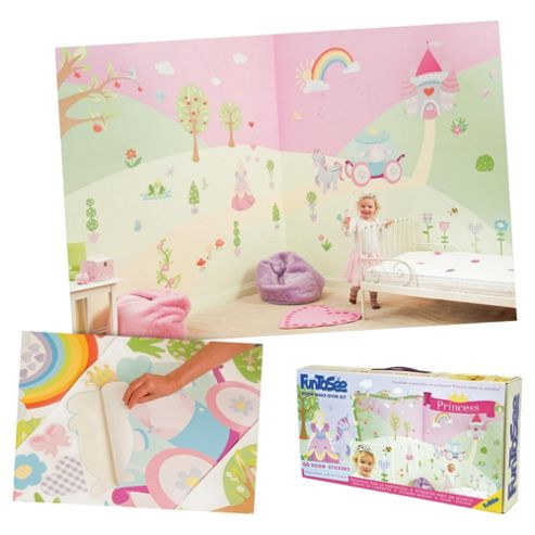 FunToSee Fairy Tale Princess Wall Stickers Room Make-Over Kit
