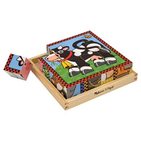 Melissa & Doug Farm Wooden Cube Puzzle