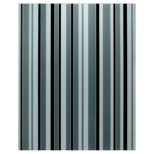 Designer Printed Splashback Stripe Black & White 60x75
