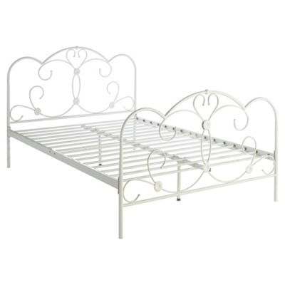 Florence Double Metal Bed Frame, Cream
