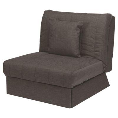 Morton Fabric Single Sofa Bed, Chocolate