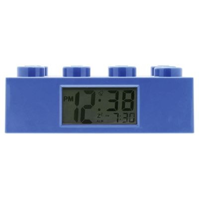 LEGO Brick Alarm Clock Blue