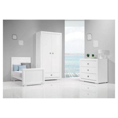 Bebecar Series White Art 3 Piece Nursery Roomset