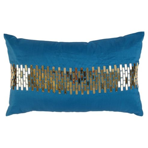F&F Home sequin panel cushion, teal