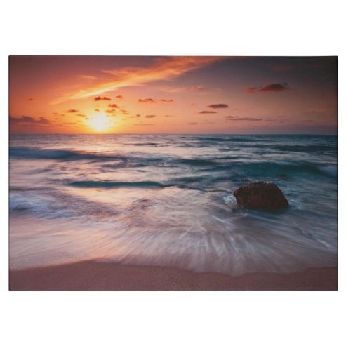Sunset Seascape Canvas H50xW70xD2.5cm