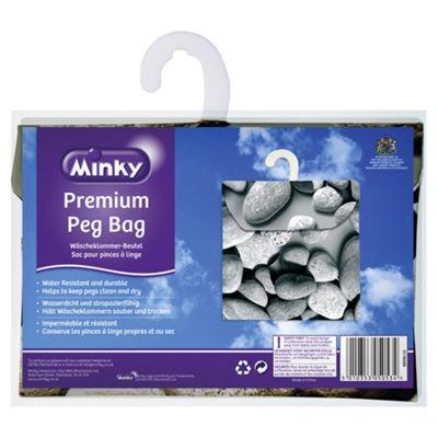 Minky Peg Bag Pebbles