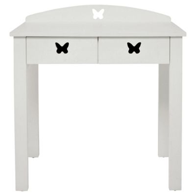 Butterfly 2 Drawers Desk White
