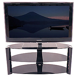 S C Zin422640 Bki Curved 3 Tier Piano Black Glass Tv Stand For Up
