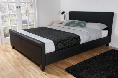 Cannes Classic Scroll King Bed Frame, Black