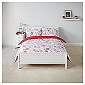 Tesco Scandi Deer Duvet Set  Set - Red