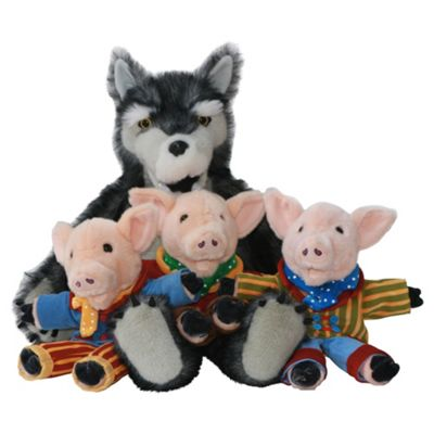 The Puppet Company Wolf & Three Pig Glove Puppets (Giant Story Tellers)
