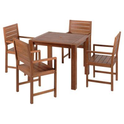 Hampton Wooden 4-seat Garden Furniture Set