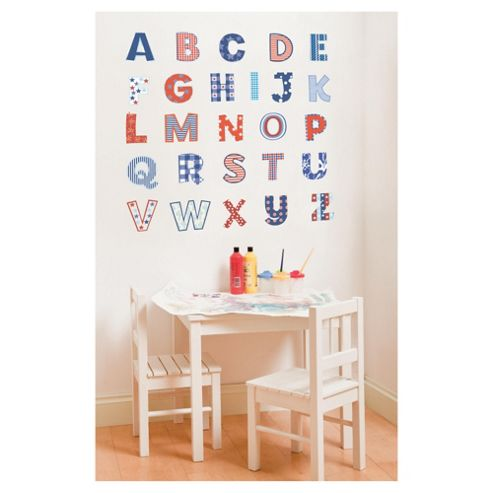 FunToSee Red, White and Blue Alphabet Wall Stickers - Uppercase
