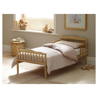 Junior Bed in a Box - Beige gingham