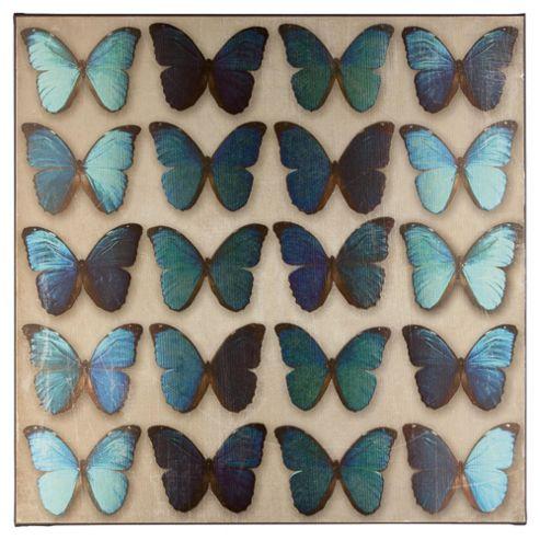 Teal Butterflies Wall Art