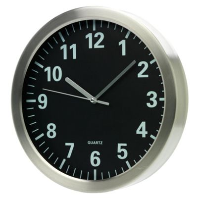 Black Face Wall Clock