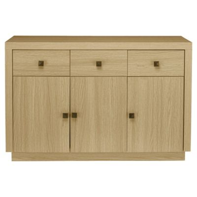 Torino 3 Drawer 3 Door Sideboard, Oak Effect