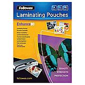 Fellowes A4 Laminator Pouches 80 Micron 25 pack