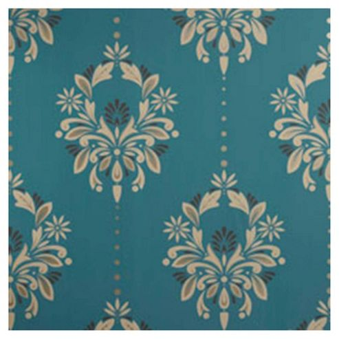 Dulux Antoinette Wallpaper, Peacock