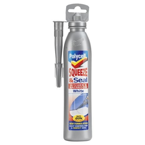 Polycell squeeze & seal kitchen & bathroom, white