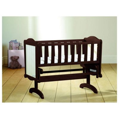 Saplings Gracie Crib & Foam Mattress, Walnut & White